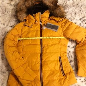 Zara Jackets Amp Coats Yellow Mustard Quilted Down Puffer